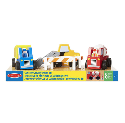 Melissa & Doug Construction Vehicle Wooden Play Set The Bubble Room Toy Store Dublin