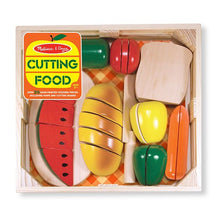 Load image into Gallery viewer, Melissa & Doug Cutting Food Wooden Play Food The Bubble Room Toy Shop Dublin