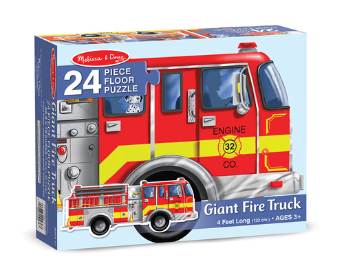 Melissa & Doug Fire Truck Floor Puzzle 24 Pieces the Bubble Room Toy Store Dublin