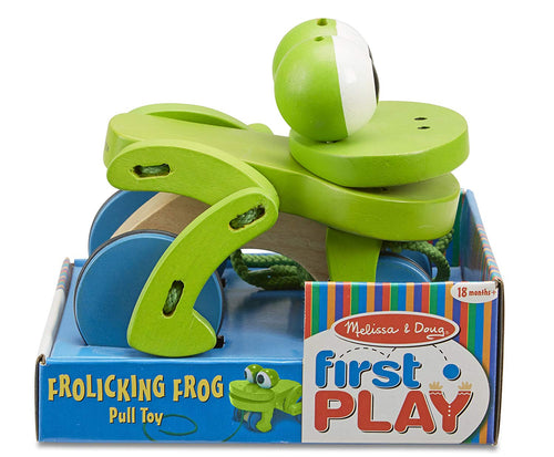 Melissa & Doug Pull Along Frog The Bubble Room Dublin