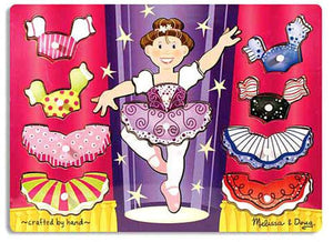 Melissa and Doug Ballerina Peg Puzzle The Bubble Room Toy Store Dublin