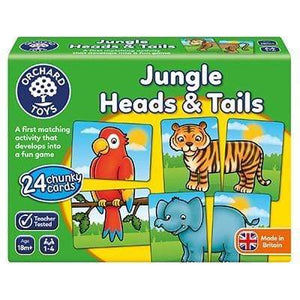 Orchard Toys Jungle Heads and Tails The Bubble Room Toy Store Dublin
