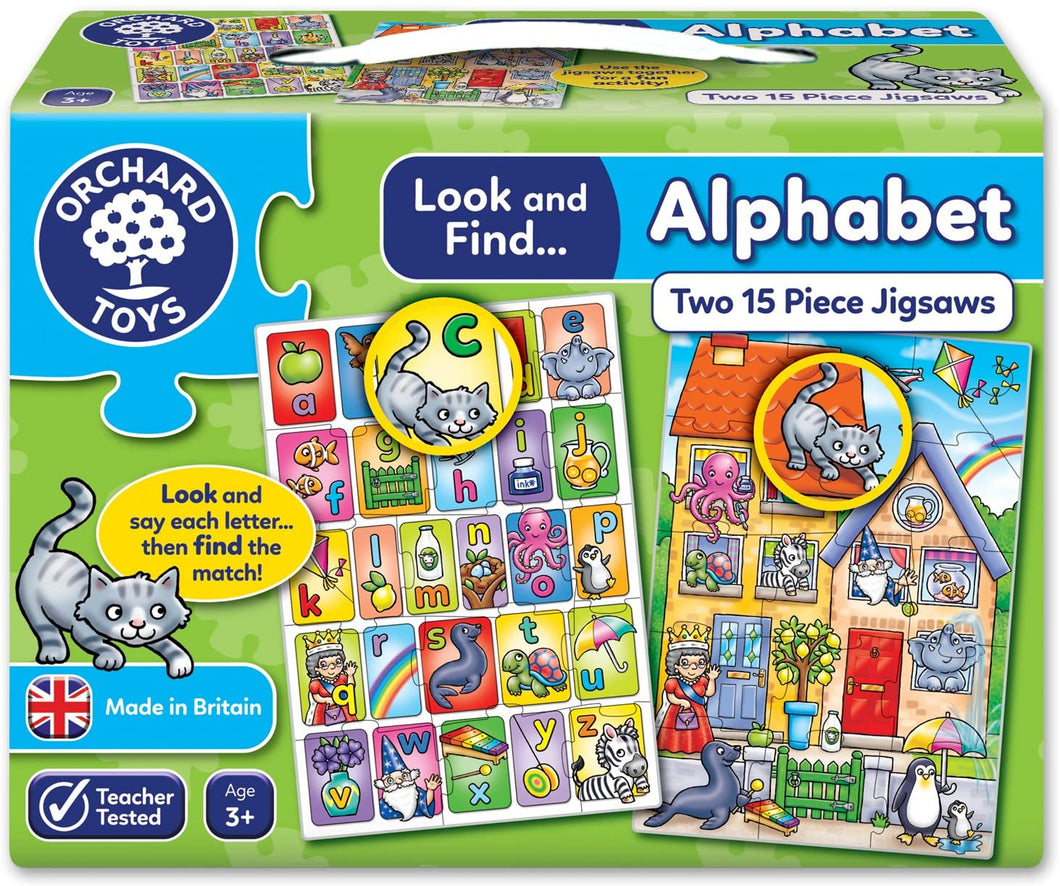 Orchard Toys Look and Find Alphabet Jigsaw Puzzle The Bubble Room Toy Store Dublin