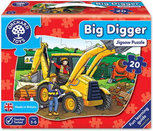 Orchard Toys Big Digger Floor Puzzle The Bubble Room Toy Store Dublin