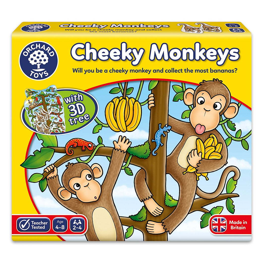 Orchard Toys  Monkeys game with 3D Tree The Bubble Room Toy Store Dublin