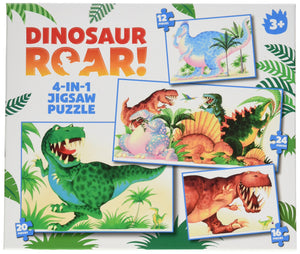 Paul Lamond 4 in 1 Dinosaur Roar Puzzle