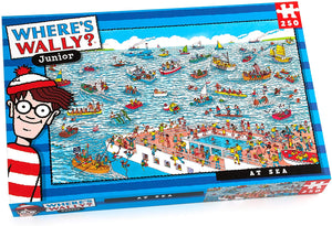 Paul Lamond Games Wheres Wally Junior At Sea 250 Piece Puzzle