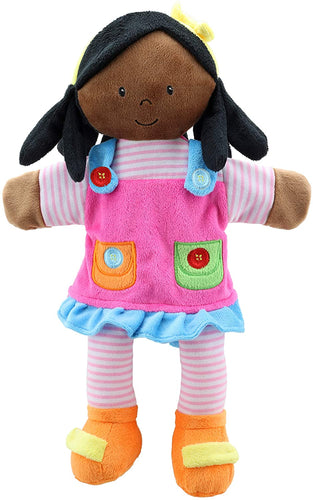The Puppet Company  Girl (Dark Skin Tone)  Storytelling Puppet The Bubble Room Dublin