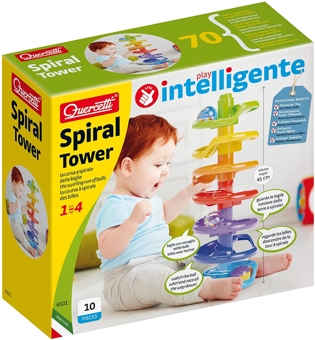 Quercetti Spiral Tower marble Run The Bubble Room toy store dublin
