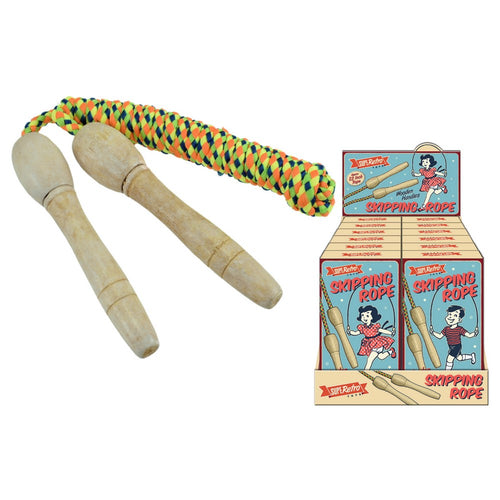 Retro Wooden Handled Skipping Rope The Bubble Room toy Store Dublin