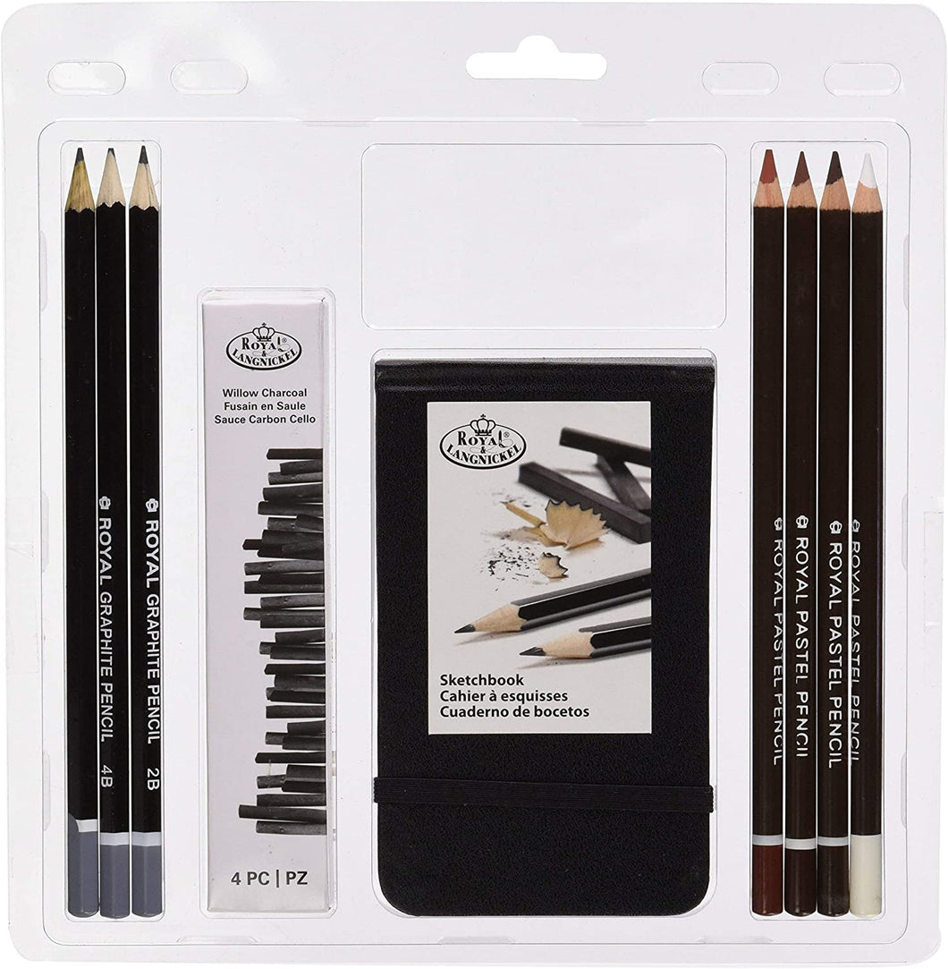 Royal & Langnickel Pastel Pencil Set with Sketchbook The Bubble Room Toy Store Dublin