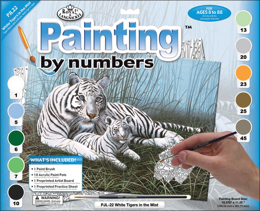 Royal & Langnickle painting by Numbers White Tiger The Bubble Room Toy Store Dublin