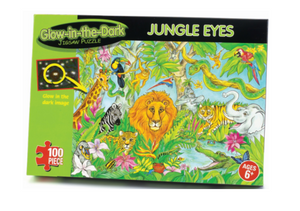 Glow In The Dark jungle Eyes  Jigsaw Puzzle  the Bubble Room Toy store Skerries Dublin