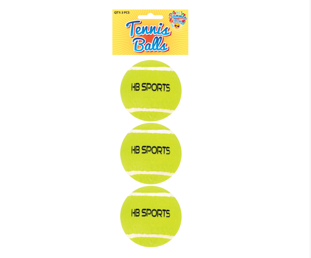 Henbrandt Tennis Balls (3 pack) the Bubble Room Toy Store Skerries Dublin