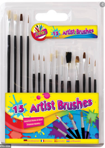 Artbox 15 Artist Brush Set The Bubble Room Arts and Crafts Skerries Dublin