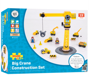 Bigjigs Big Crane Construction Set The Bubble Room Toy Store Dublin