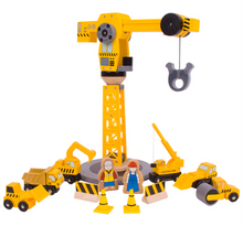 Load image into Gallery viewer, Bigjigs Big Crane Construction Set The Bubble Room Toy Store Dublin