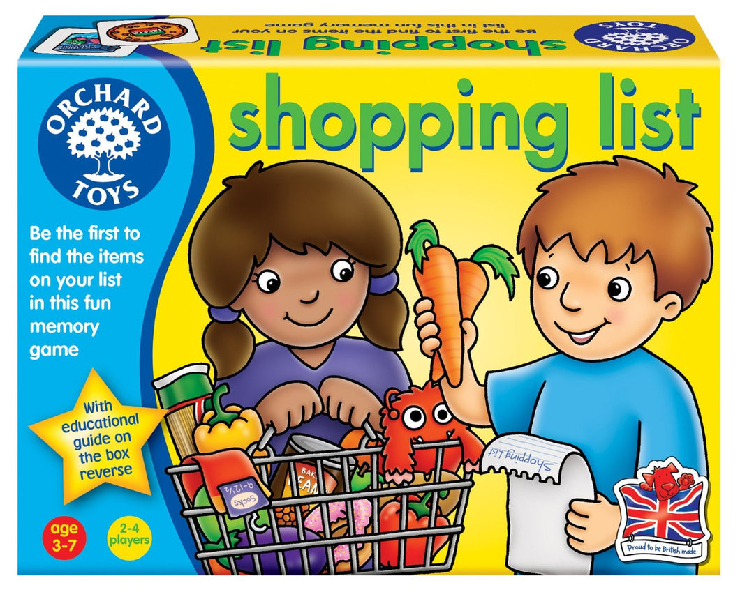 Orchard Toys Shopping List Game The Bubble Room Toy Store Dublin