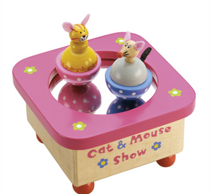 Tidlo Cat and Mouse Music Box