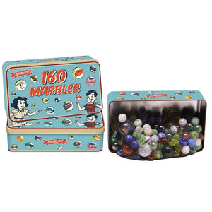 Retro Tin of Marbles (160pcs) The Bubble Room Toy Store Dublin