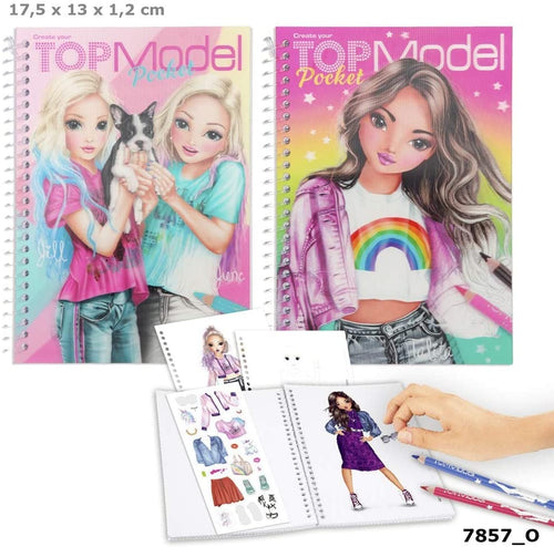 Top Model 1 Pocket Coloring Book with 3D Cover  The Bubble Room Toy Store Skerries Dublin