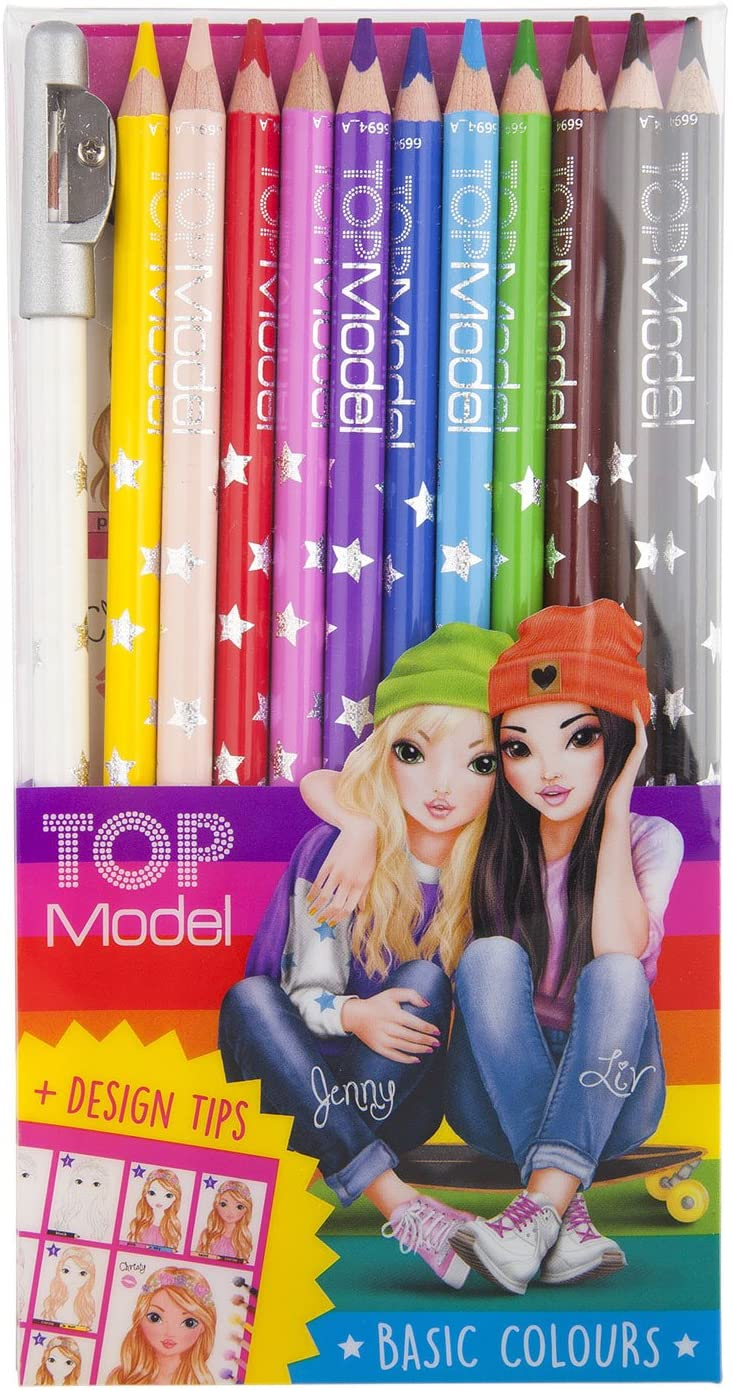 TOPModel Coloured Pencil, 12 Colours The Bubble Room Art and Craft Store Skerries Dublin