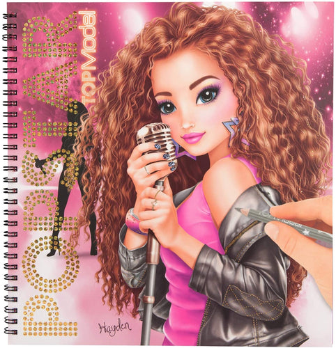 Top Model Popstar Colouring Book The Bubble Room Toy Store Dublin