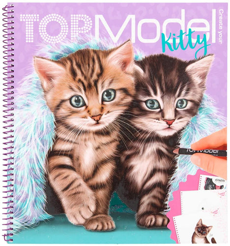 Top Model Create Your Kitty Colouring Book The Bubble Room Toy Store Dublin