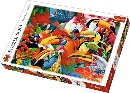 Trefl 500 Piece Colourful Bird Puzzle The Bubble Room Toy Store Dublin