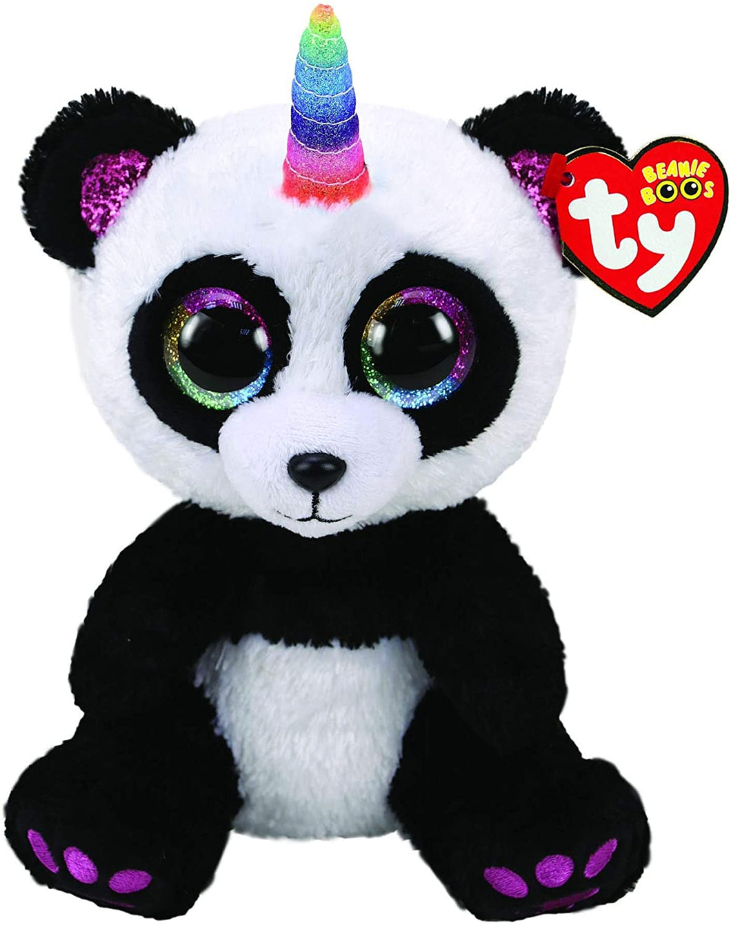 Ty Beanie Buddy Paris the Panda with Horn The Bubble Room Toy Store Dublin