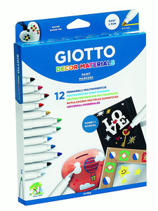 Giotto Decor Materials Marker Pens X12  The Bubble Room Toy Store Skerries dublin