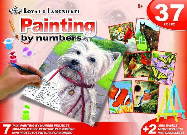 Royal & Langnickel 37pce Painting By Numbers, Animals The Bubble Room Skerries