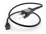 NEMA 5-15P to IEC 60320 C13 Power Cord 15A/125V 14AWG