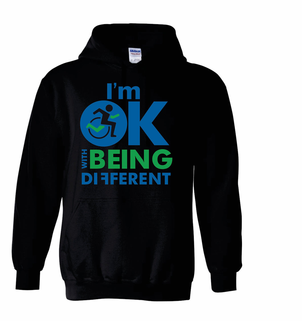 Pull Over Hoodie- Im Ok with being different