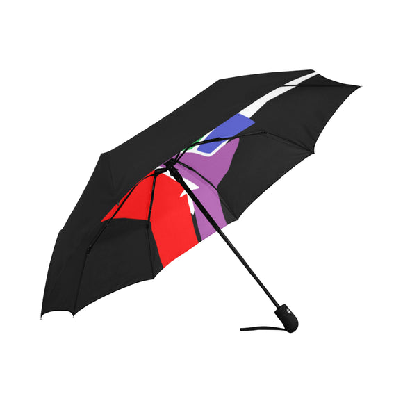 Black LGBTQ Pride Umbrella - Anti-UV Auto-Fold