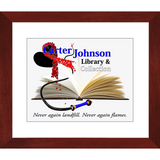 CJLC Red Ribbon Print - Framed Glossy