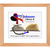 CJLC Red Ribbon Print - Framed Lustre
