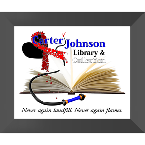 CJLC Red Ribbon Print - Framed Semi Gloss