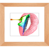Sugar Lips Print - Framed Glossy