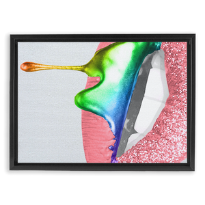 Sugar Lips Canvas - Wrap Framed