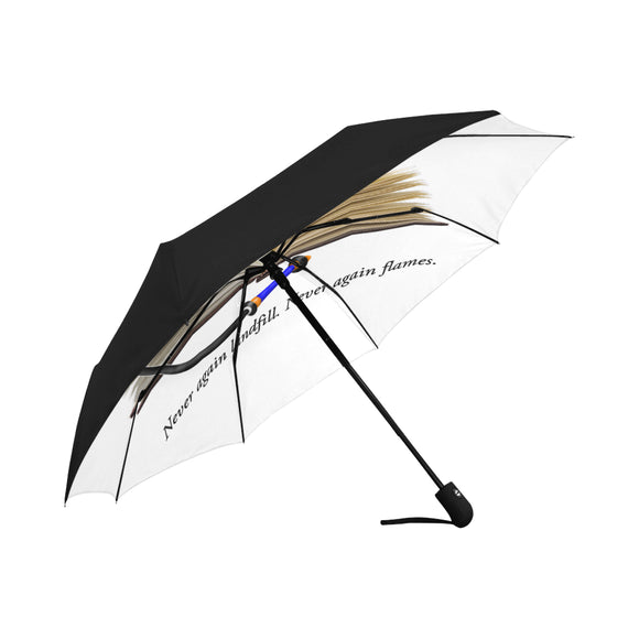 CJLC Puppy Paw Rubber Umbrella - Anti-UV Auto-Fold