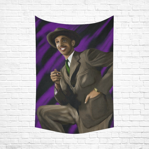 Jazz Man Cotton Linen Wall Tapestry 60