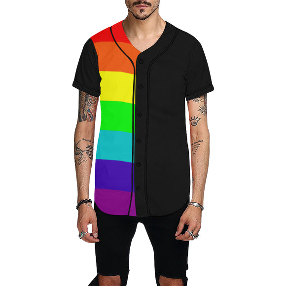 Gay Pride v2  Shirt - Baseball Jersey (Mens xS-4x)