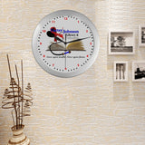 CJLC Red Ribbon Wall Clock