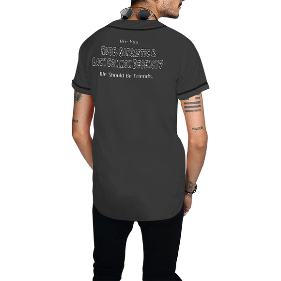 Let's Be Friends  Shirt - Baseball Jersey (Mens xS-4x)