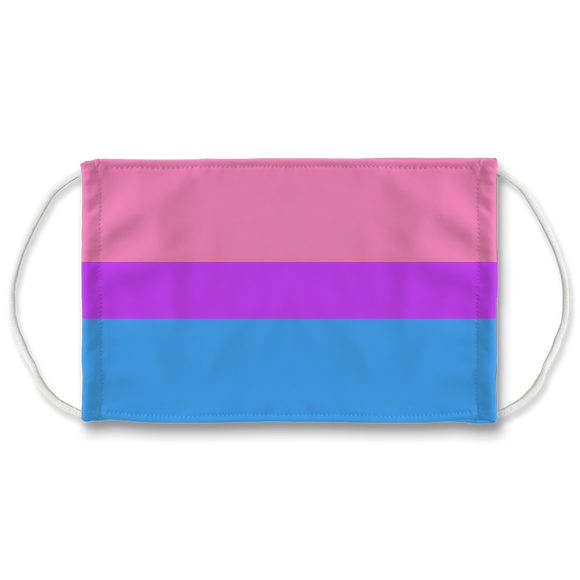 Bisexual Pride 7 Layer Filter Face Mask