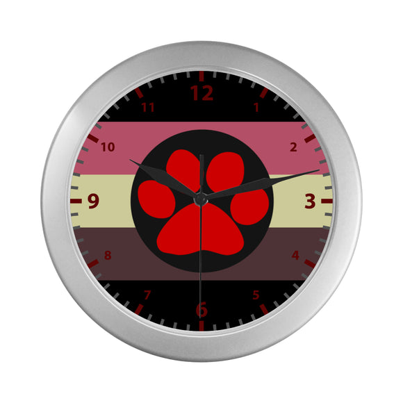 Chubby Puppy Pride Wall Clock