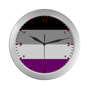 Asexual Pride Wall Clock