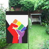 Black LGBTQ Pride Garden Flag - Small