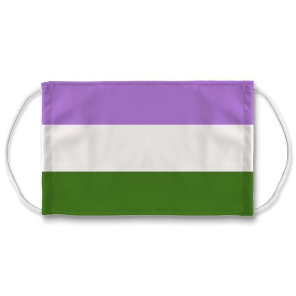 Genderqueer Pride 7 Layer Filter Face Mask